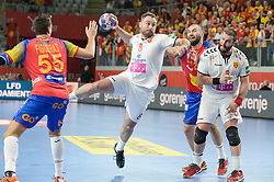 Nemanja Pribak of Macedonia during handball match between National teams of Macedonia and Spain on Day 4 in Main Round of Men's EHF EURO 2018, on January 21, 2018 in Arena Varazdin, Varazdin, Croatia. Photo by Mario Horvat / Sportida