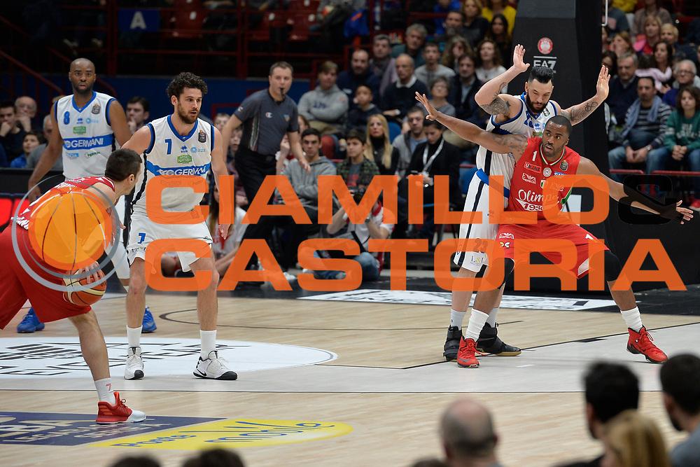 Christian Burns,McLean Jamel<br /> Olimpia EA7 Emporio Armani Milano vs Basket Leonessa Brescia<br /> Lega A 2016/2017<br /> Milano 12/02/2017<br /> Foto Ciamillo-Castoria