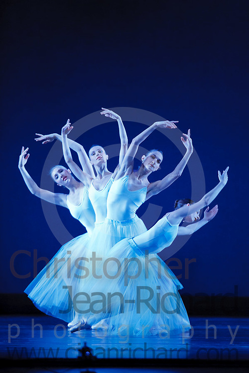 "Artists of the Tulsa Ballet perform in George Balanchine's ""Serenade""...Tulsa Performing Arts Center.September, 2006"
