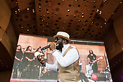 Rhymefest performs at opening day of the Chicago Blues Festival at Millennium Park on June 9, 2017.