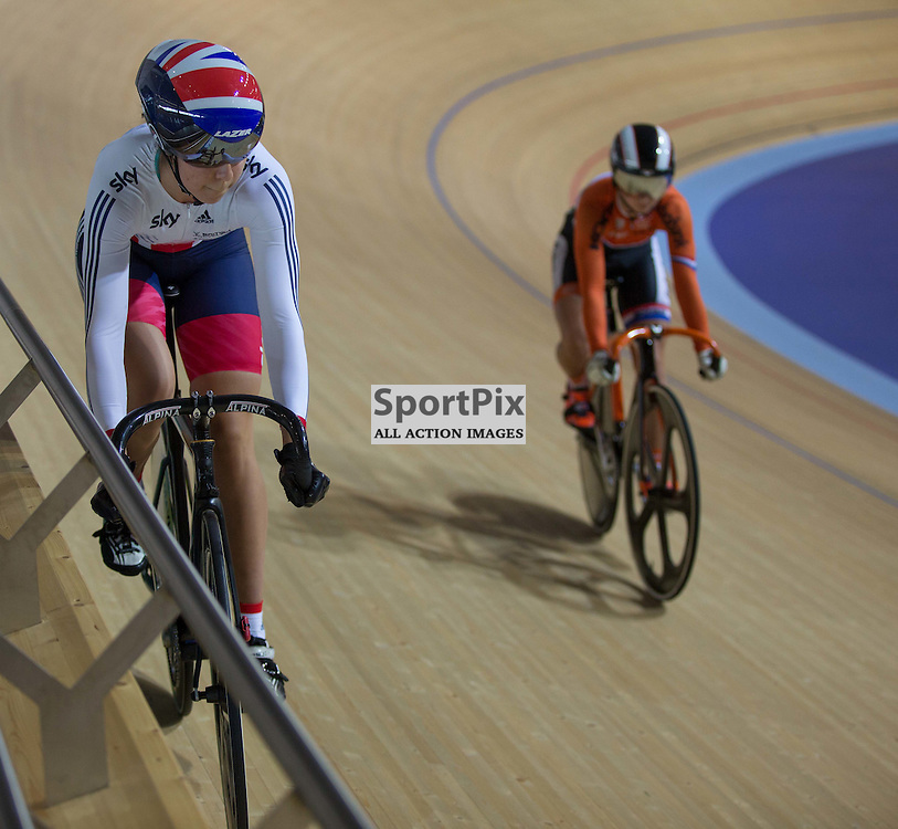 Danielle Khan, of Team GB at the Revoultion Series 2015/6 Round 1 Derby, Day 2, on 15 August 2015 ( (Photo by Mike Poole - Photopoole)