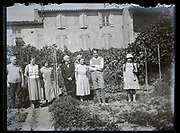 family group portrait in garden France 1933