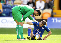 Mansfield Town's Scott Shearer tries to pick up Leicester City's Andrej Kramaric - Mandatory by-line: Robbie Stephenson/JMP - 25/07/2015 - SPORT - FOOTBALL - Mansfield,England - Field Mill - Mansfield Town v Leicester City - Pre-Season Friendly