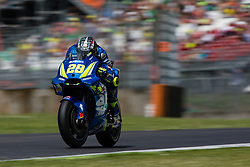 June 2, 2018 - Mugello, FI, Italy - Andrea Iannone of Team Suzuki Ecstar during the qualifying  of the Oakley Grand Prix of Italy, at International  Circuit of Mugello, on June 2, 2018 in Mugello, Italy  (Credit Image: © Danilo Di Giovanni/NurPhoto via ZUMA Press)