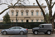 "London, England, UK, February 4 2018 - 15 Kensington Palace Gardens, home of Ukraine-born billionaire Len Blavatnik. Kensington Palace Gardens is also called ""billionaire's row"" , as the most expensive address in Britain, with a average price for a mansion of £35. million."