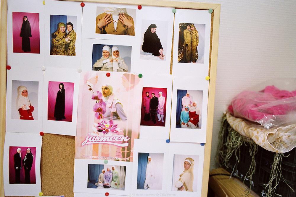 Studio de la marque Jasmeen &agrave; Torcy, France 2006. <br /> Jasmeen designer studio, Torcy, France 2006.