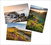 An assortment of landscape photography greetings cards (examples shown here)