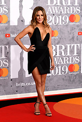 February 21, 2019 - London, London, United Kingdom - Image licensed to i-Images Picture Agency. 20/02/2019. London, United Kingdom. Caroline Flack at the Brit Awards in London. (Credit Image: © i-Images via ZUMA Press)