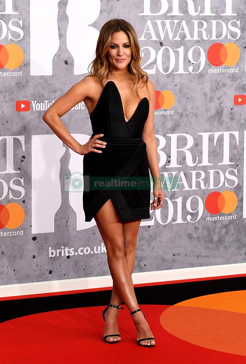February 21, 2019 - London, London, United Kingdom - Image licensed to i-Images Picture Agency. 20/02/2019. London, United Kingdom. Caroline Flack at the Brit Awards in London. (Credit Image: © i-Images via ZUMA Press)