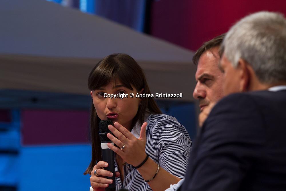 Bologna 05 settembre 2014 - Festa de l'Unità. Dibattito: Alla ricerca della buona politica e della buona amministrazione. Nella foto Debora Serracchiani