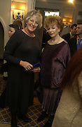 Germaine Greer and Edna O'Brien. The South Bank Show Awards. The10th annual awards rewarding excellence in arts, The Savoy , London.January 27 2006. ONE TIME USE ONLY - DO NOT ARCHIVE  © Copyright Photograph by Dafydd Jones 66 Stockwell Park Rd. London SW9 0DA Tel 020 7733 0108 www.dafjones.com