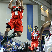 Maine Red Claws Guard Tim Frazier (10) drives towards the basket in the first half of a NBA D-league regular season basketball game between the Delaware 87ers and the Maine Red Claws (Boston Celtics) Friday, Dec. 12, 2014 at The Bob Carpenter Sports Convocation Center in Newark, DEL