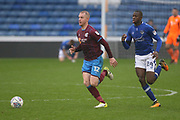Neal Bishop Scunthorpe Midfielder & Ousmane Fane Oldham Midfielder during the EFL Sky Bet League 1 match between Oldham Athletic and Scunthorpe United at Boundary Park, Oldham, England on 28 October 2017. Photo by George Franks.