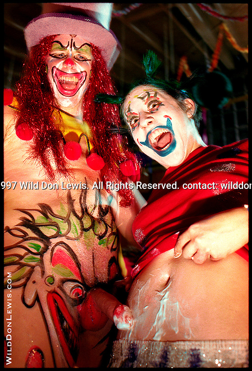 Paul Shiva and Slicko the Clown, Kakophony Klownsex Klub, Los Angeles, CA, March 23, 1997.