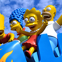 Simpsons Riding Rollercoaster at Universal in Orlando, Florida<br />
