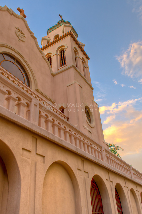 Sunset at St. Mary's Basilica, Phoenix, Arizona