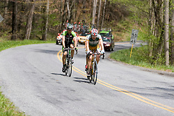 Dan Timmerman (KOD), Jonny Sundt (KBS), and Eddy Hilger (PRI) work together in a three man escape.  Stage 5 of The Tour of Virginia traveled over 100 miles from Waynesboro, VA to Staunton on April 27, 2007. The stage took country roads to the south with a few rolling climbs before returning north to Staunton.  Formerly known as the Tour of Shenandoah, the ToV has gained National Race Calendar (NRC) status for the first time in its five year history.