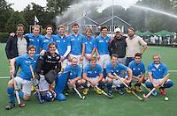 BLOEMENDAAL - Oud internationals Eby Kessing, Ronald Brouwer en Nick Meijer, alle spelers van Bloemendaal, namen afscheid met een afscheidsdrieluik. COPYRIGHT KOEN SUYK