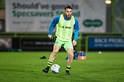 Forest Green Rovers Sam Wedgbury(8) warming up during the Vanarama National League match between Forest Green Rovers and Solihull Moors at the New Lawn, Forest Green, United Kingdom on 21 March 2017. Photo by Shane Healey.