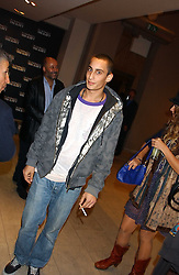 ALEX DELLAL at a cocktail party hosted by MAC cosmetics to kick off London Fashion Week at The Hospital, 22 Endell Street London on 18th September 2005.At the event, top model Linda Evangelista presented Ken Livingston the Lord Mayor of London with a cheque for £100,000 in aid of the Loomba Trust that aims to privide education to orphaned children through a natural disaster or through HIV/AIDS.<br /><br />NON EXCLUSIVE - WORLD RIGHTS