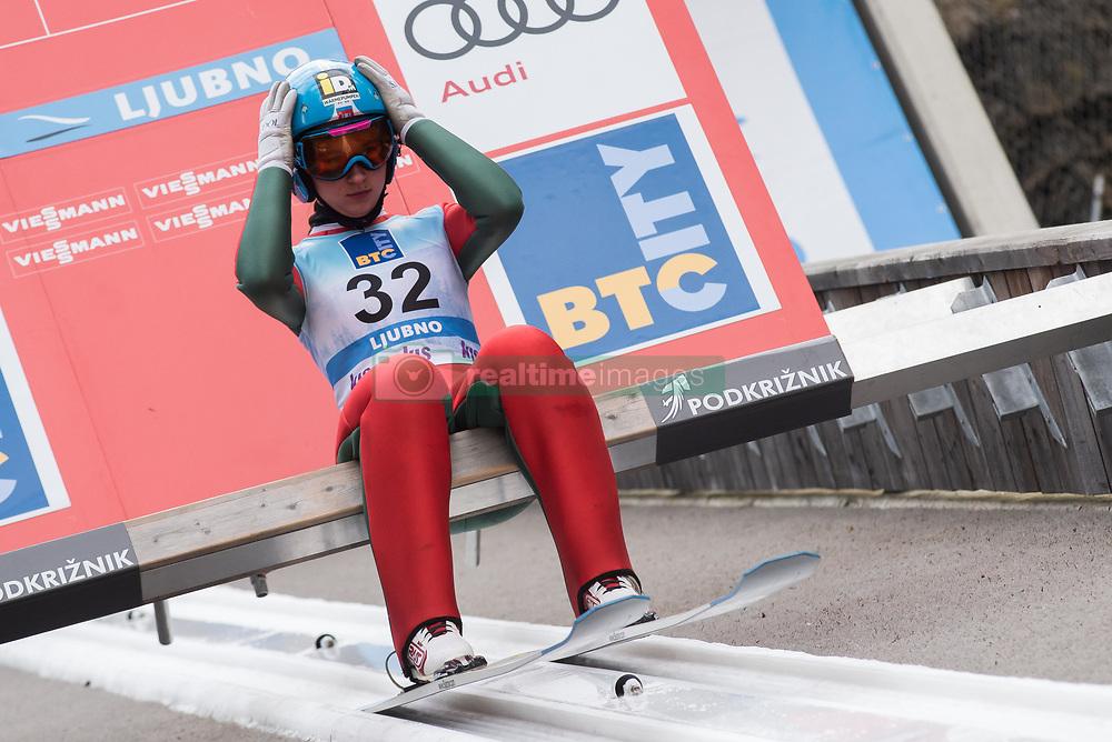 February 8, 2019 - Ljubno, Savinjska, Slovenia - Lidiia Iakovleva of Russia on first competition day of the FIS Ski Jumping World Cup Ladies Ljubno on February 8, 2019 in Ljubno, Slovenia. (Credit Image: © Rok Rakun/Pacific Press via ZUMA Wire)