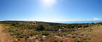 Panoramic of the Cyprus landscape just outside the town of Episkopi