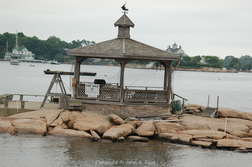 What a place for a party!  This gazebo takes up most of this Thimble Island in Long Island Sound off Stone Creek, CT