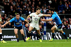 Danny Care of England hands off Michele Campagnaro of Italy - Mandatory by-line: Robbie Stephenson/JMP - 26/02/2017 - RUGBY - Twickenham Stadium - London, England - England v Italy - RBS 6 Nations round three
