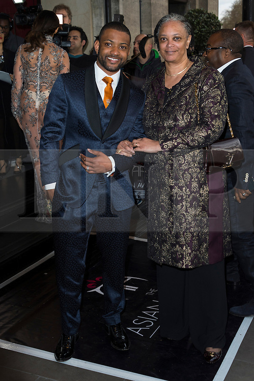 © Licensed to London News Pictures. 08/04/2016. JB GILL attends The Asian Awards celebrating the best in Asian achievement across business, sport, philanthropy, and popular arts and culture. London, UK. Photo credit: Ray Tang/LNP