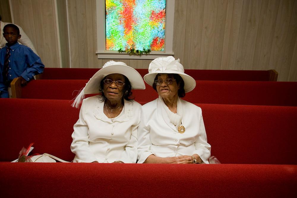 Elder Sisters, St. Joseph's Missionary Baptist Church, Jonestown, Miss., 2007<br /> Photo by D.L. Anderson
