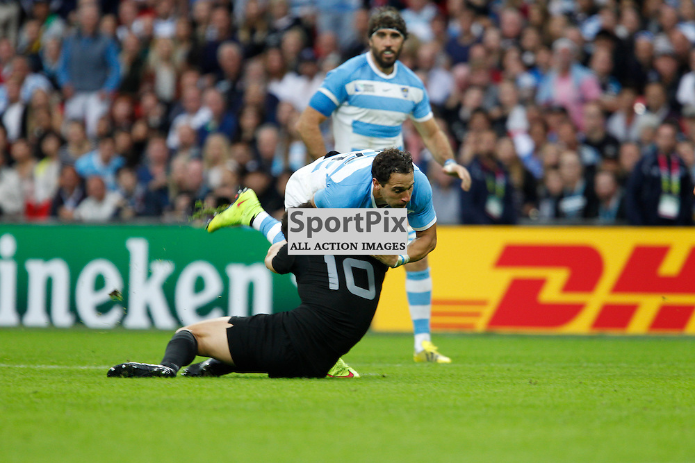 WEMBLEY, ENGLAND - SEPTEMBER 20:  Joaquin Tuculet of Argentina during the 2015 Rugby World Cup Pool C match between New Zealand and Argentina at Wembley Stadium on September 20, 2015 in London, England. (Credit: SAM TODD | SportPix.org.uk)