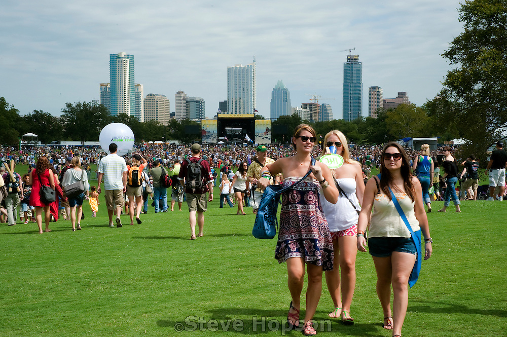 The Austin City Limits Music Festival 2009, Austin Texas, October 2, 2009.   The Austin City Limits Music Festival is an annual three-day music festival in Austin, Texas's Zilker Park.