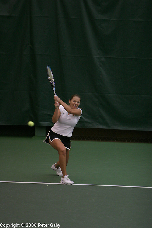 Petra Dizdar, Texas, vs. Jackie Carleton, Duke at the  19th Annual USTA/ITANational Women's Team Indoor Championships at the Nielsen Tennis Stadium in Madison, WI. Feb. 2-5, 2006