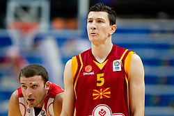 Manuchar Markoishvili of Georgia and Vlado Ilievski of Macedonia during basketball game between National basketball teams of  Georgia and Former Yugoslav Republic of Macedonia at FIBA Europe Eurobasket Lithuania 2011, on September 8, 2011, in Siemens Arena,  Vilnius, Lithuania. Macedonia defeated Georgia 65-63. (Photo by Vid Ponikvar / Sportida)