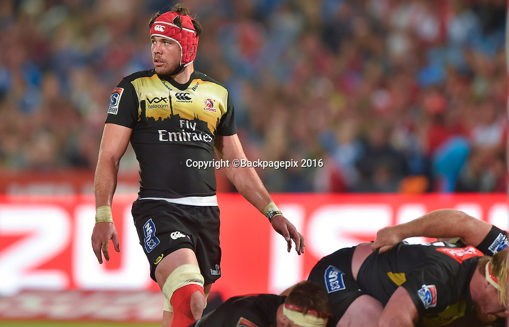 WARREN WHITELEY of the Lions during the 2016 Super Rugby game between the Bulls and the Lions at Loftus Versveld, Pretoria on 28 May 2016 ©Christiaan Kotze/BackpagePix