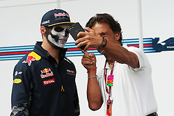 (L to R): Max Verstappen (NLD) Red Bull Racing with Jean-Michel Tibi (FRA) FOM Cameraman.<br /> 27.10.2016. Formula 1 World Championship, Rd 19, Mexican Grand Prix, Mexico City, Mexico, Preparation Day.<br />  <br /> / 271016 / action press