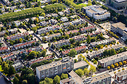 Nederland, Noord-Holland, Amsterdam, 27-09-2015; wonen ana de grens van de Zuid-as, tussen Parnassusweg en Minervalaan, Prinses Irenestraat.<br /> Residential neighbourhood near Zuid-as, South axis, Amsterdam equivalent of 'the City', financial district.<br /> luchtfoto (toeslag op standard tarieven);<br /> aerial photo (additional fee required);<br /> copyright foto/photo Siebe Swart