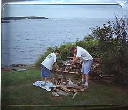 South Harpswell Maine. View at the Greeley Cottage. Credit Photography: James R Anderson