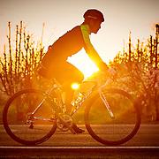 Ben Biking at Sunrise