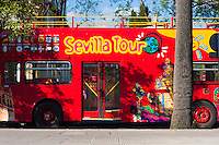 tour bus in sevilla, spain