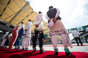 March 27-29, 2015: Malaysian Grand Prix - F1 drivers on the grid