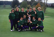 Mickey Walker (Captain) - England with the trophy<br /> Sweden Helen Alfredsson - Gothenburg, Sweden<br /> England Laura Davies - Coventry, England<br /> Belgium Florence Descampe - Brussels, Belgium<br /> England Kitrina Douglas - England<br /> England Trish Johnson - Bristol, England<br /> Sweden Liselotte Neumann - Finspang, Sweden<br /> England Alison Nicholas - Gibraltar<br /> Sweden Catrin Nilsmark - Gothenburg, Sweden<br /> Scotland Dale Reid - Ladybank, Scotland<br /> Scotland Pam Wright - Torphins, Scotland<br /> The second Solheim Cup golf match took place from 2 October to 4 October 1992 at Dalmahoy Country Club, Edinburgh, Scotland. The European team beat the United States team 11&frac12; points to 6&frac12;, to win the trophy for the first time<br /> <br /> Picture Credit:  Mark Newcombe / www.visionsingolf.com