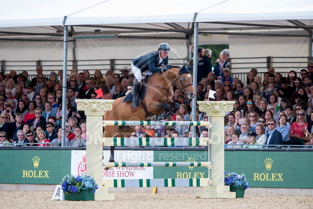 Guy Williams (GBR) & Rouge de Ravel - Rolex Grand Prix - CSI5* Jumping - Royal Windsor Horse Show - Home Park, Windsor, United Kingdom - 14 May 2017