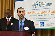 During Virtual Enterprises International's Partners' Breakfast, Crystal Leadership Awards and VEI NYC Teacher Hall of Fame Awards were presented at the Baruch College Vertical Campus in New York City on Thursday, March 29, 2012. The winners of the Global Business Challenge were also announced.