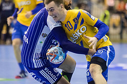 Ovnicek Rok of RK Celje Pivovarna Lasko during VELUX EHF Champions League handball match between RK Celje Pivovarna Lasko vs MOL Pick Szegad on the February 10. 2019, Celje, Slovenia. Photo by Matic Ritonja / Sportida