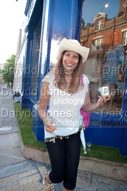 TRUDIE JUGGERNAUT SHARMA, Pimlico Road party. 22 June 2010. -DO NOT ARCHIVE-© Copyright Photograph by Dafydd Jones. 248 Clapham Rd. London SW9 0PZ. Tel 0207 820 0771. www.dafjones.com.