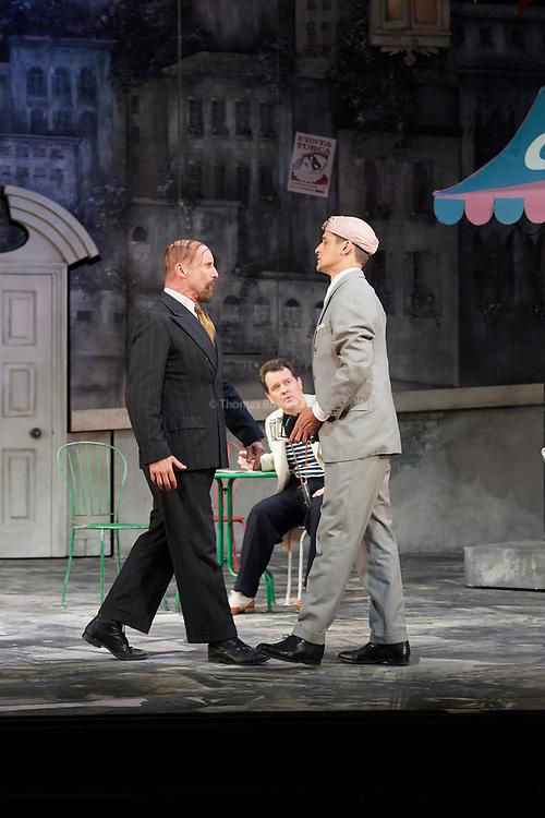 23nd June 2017.Il Turco in Italia, Rossini  at Garsignton Opera. <br /> <br /> Prosdocimo - Mark Stone<br /> Don Geronio - Geoffrey Dolton<br /> Selim - Quirijn de Lang