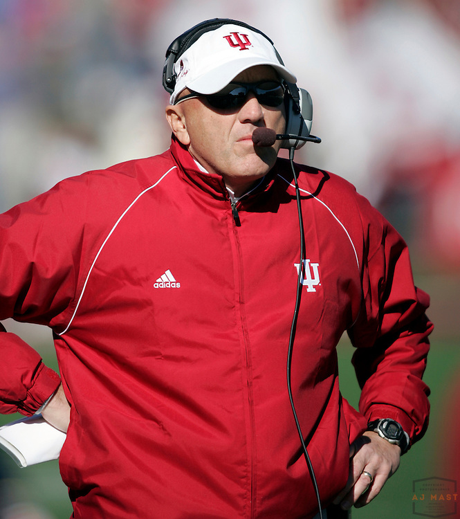 28 October 2006: Indiana coach Terry Hoeppner as the Indiana Hoosiers beat the the Michigan State Spartans 46-21 in college football in Bloomington, Ind.