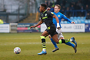 Ebou Adams on the ball during the EFL Sky Bet League 2 match between Macclesfield Town and Forest Green Rovers at Moss Rose, Macclesfield, United Kingdom on 25 January 2020.