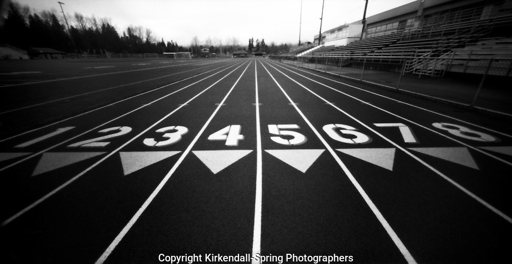 PL06701-00...WASHINGTON - Pinhole image of a running track.